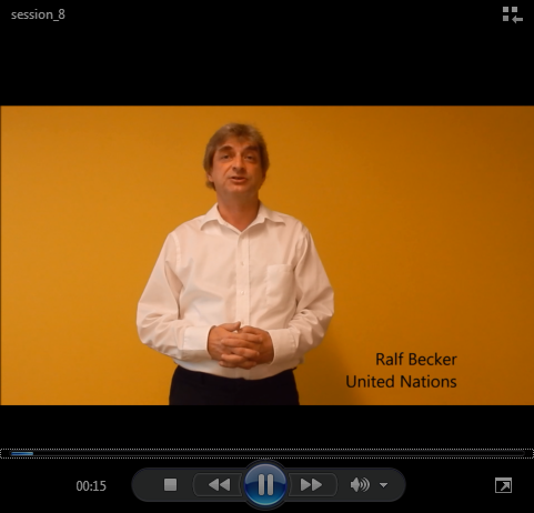 Video Deriving national classifications from ISIC.  Ralf Becker, from the United Nations Statistics Division